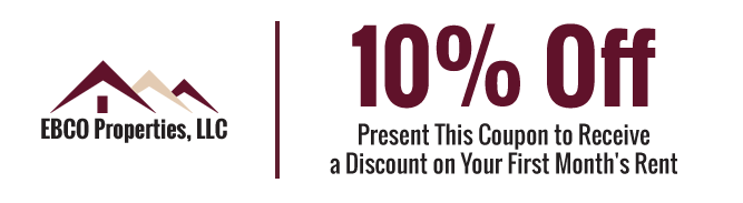 10% Off - Present This Coupon to Receive a Discount on Your First Month's Rent